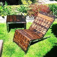 Шезлонг в стиле LOFT (Deck chair - 06)