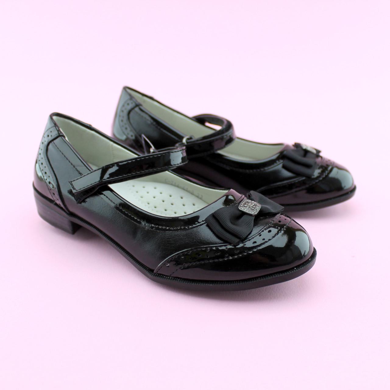 Туфли для девочки черные с ремешком тм Том.М размер 36,38