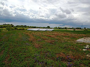 Вид установки на земельном участке.