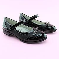 Туфли для девочки Черные Бантик тм Том.М размер 33,35,36,37,38, фото 1