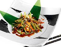 Сякэ-кава-сарада с соусом Unagi DanSoy