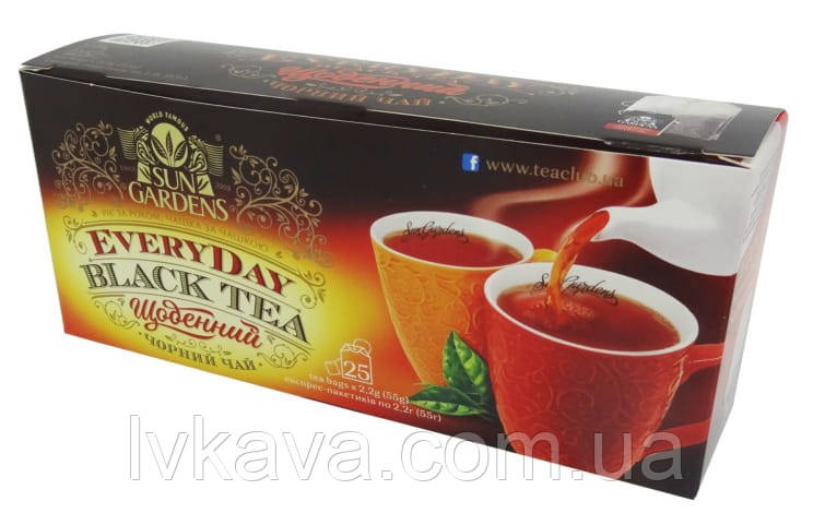 Чай черный Every Day  Sun Gurdens, 25 пак