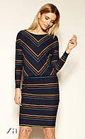 Женское платье Teter Zaps темно-синего цвета. Коллекция осень-зима 2019-2020