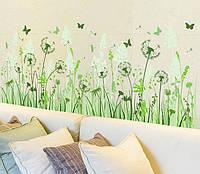 Інтер'єрна наліпка на стіну Кульбабки / Интерьерная наклейка на стену Одуванчики XL7116