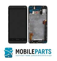 Дисплей для HTC One M7 Dual Sim | 802w c сенсорным стеклом в рамке (Черный) Оригинал Китай