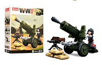 Мини конструктор фигурка для мальчиков SLUBAN M38-B0678 военная техника  Слубан  (4 вида)