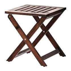ИКЕА (IKEA) ЭПЛАРО, 202.049.25, Садовый табурет, сложенное коричневое пятно