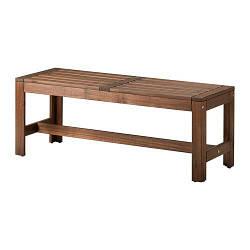 ИКЕА (IKEA) ЭПЛАРО, 102.051.81, Садовая скамья, коричневая морилка коричневый, 114 см