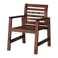 ИКЕА (IKEA) ЭПЛАРО, 202.085.27, Садовое кресло, коричневый коричневая морилка
