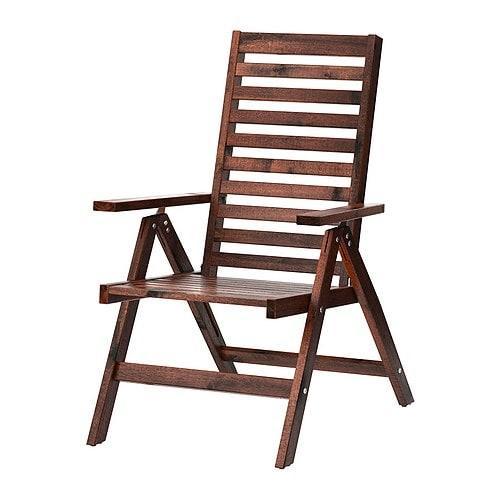 ИКЕА (IKEA) ЭПЛАРО, 702.085.39, Садовое кресло/регулируемая спинка, складной коричневый коричневая морилка коричневый