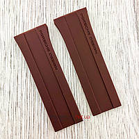 Каучуковый ремешок для часов Porsche Design P6780 коричневый (08086), фото 1