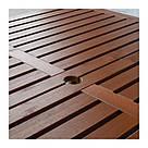 ИКЕА (IKEA) ЭПЛАРО, 492.921.39, Стол+6кресел+скамья,д/сада, коричневая морилка, Frösön / Duvholmen синий, фото 2