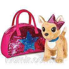 Чи Чи Лав Собачка Чихуахуа в сумочке с пайетками Chi Chi Love Simba 5893351