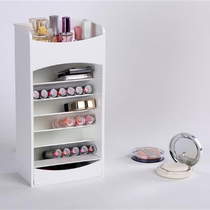 Компактный органайзер - шкафчик для хранения косметики COSMAKE LIPSTICK & NAIL POLISH ORGANIZER Белый