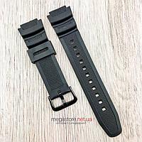 Полимерный ремешок для часов Casio ae-1000w/aq-s810w/ sgw-400h/sgw-300h черный (08084), фото 1