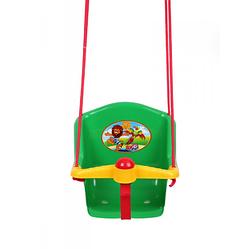 Детская качеля с пищалкой Технок 1790 Солнышко Зеленая | качелька для ребенка | пластиковая подвесная качеля