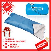Спальный мешок 68053 SH BESTWAY Синий в сумке   спальник для туризма   одеяло для похода