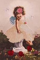 Набор для вышивки бисером Волшебная страна Ангелочек с голубями (FLF015) 20 х 30 см