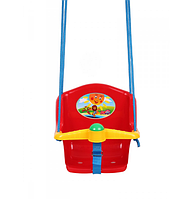 Детская качеля с пищалкой Технок 1790 Солнышко Красная   качелька для ребенка   пластиковая подвесная качеля