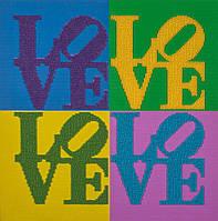 Вышивка бисером Волшебная страна Love. Любовь (FLF065) 30 х 30 см