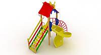 Детский комплекс Петушок с пластиковой горкой Спираль - ДК 005.048