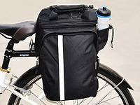 Велосипедная сумка на багажник штаны велобаул / велосумка трансформер
