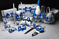 Свадебная коллекция аксессуаров для свадьбы в синем