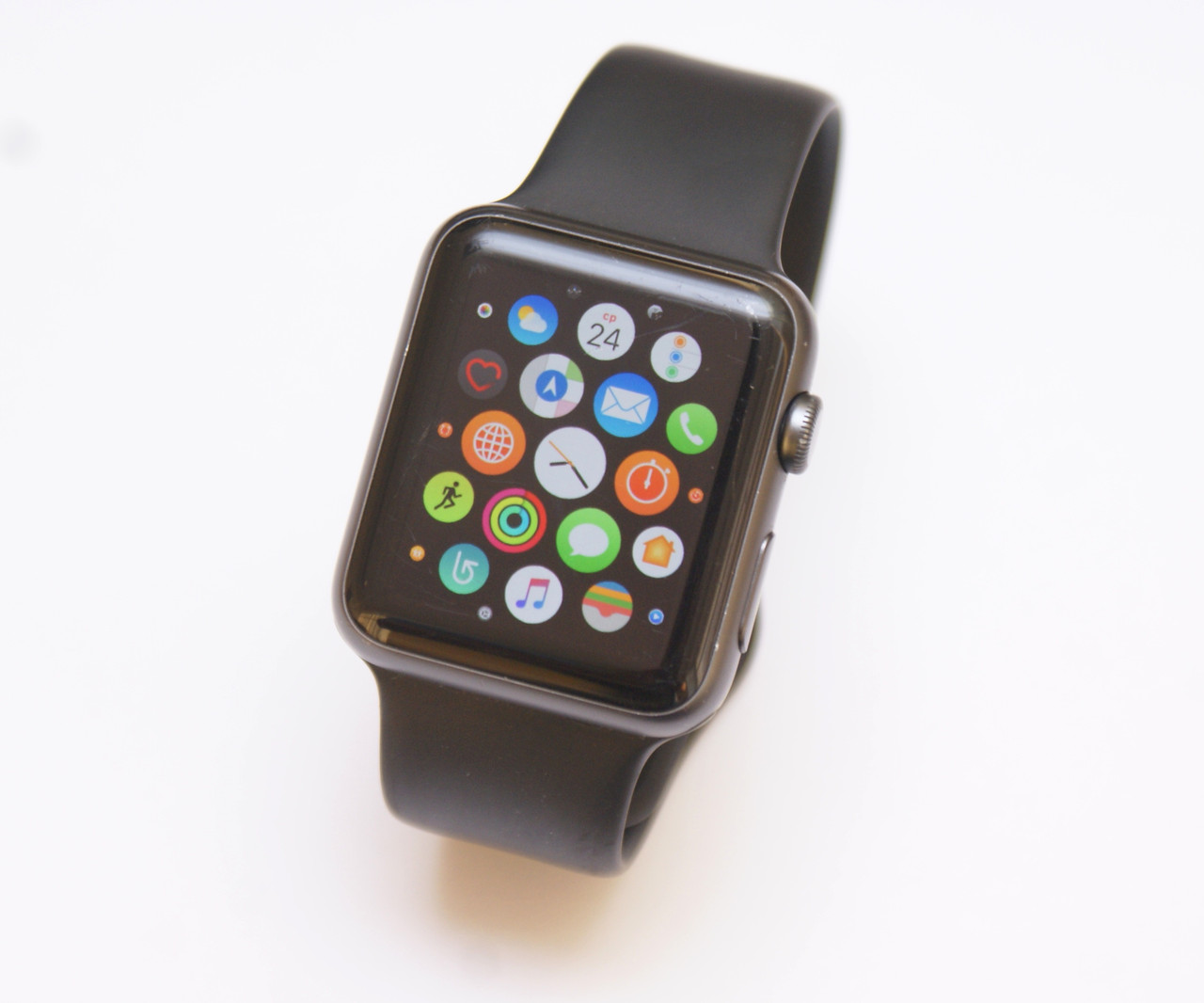 Apple Watch А1554 42mm Space Gray Aluminum Case Black Sport Band