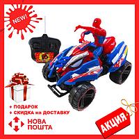 Игрушечный квадроцикл с супергероем Спайдермен 3268-3276 на пульте управления | игрушечная машинка