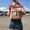 """Женский кожаный рюкзак-сумка (трансформер) """"Милла Pink"""""""
