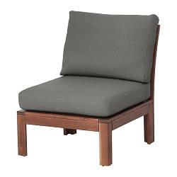 ИКЕА (IKEA) ЭПЛАРО, 892.599.63, Садовое легкое кресло, коричневая морилка, Frösön / Duvholmen темно-серый, 63x80x84 см