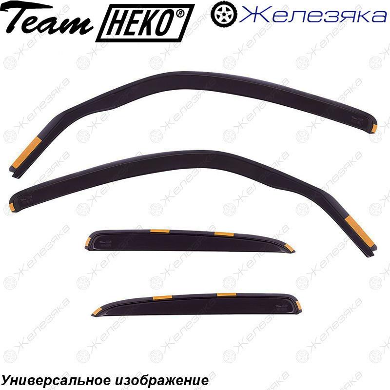Ветровики Kia Rio Sd 2012 (HEKO)