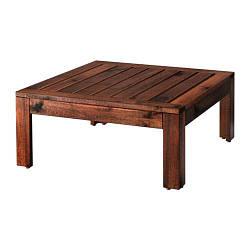 ИКЕА (IKEA) ЭПЛАРО, 802.134.46, Стол/табурет секция, садовый, коричневый коричневая морилка, 63x63 см