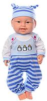 Пупс игрушечный в голубой одежде + набор доктора и горшок 6115 AC   детская куколка