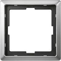 Merten Artec рамка 1 п., стальной