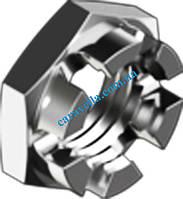 DIN 937, гайка корончатая низкая из нержавеющей стали