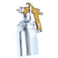 Краскораспылитель 1,5 мм, нижний металлический бачок 1000 мл. Intertool PT-0221