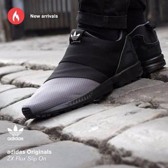 Мужские кроссовки Adidas Originals ZX FLUX SLIP ON