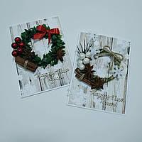 Открытка новогодняя с венком, фото 1