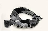 Шарф - плед  Joya 140 x 140 см Темно-серый с черным 1922019, КОД: 390687