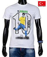 Спортивная мужская футболка ,белая