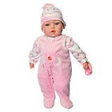 Пупс игрушечный в голубой одежде M 3859 UA LIMO TOY мягконабивной, музыкально-звуковой   детская кукла 4 вида, фото 8