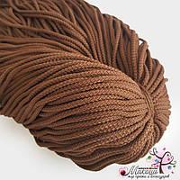 Полиэфирный шнур для вязания, 4 мм, шоколад