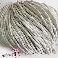 Полиэфирный шнур с люрексом, 4 мм, белый-серебро