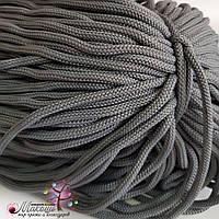 Полиэфирный шнур с сердечником, 5 мм (200 м), св. серый