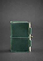 Кожаный блокнот BlankNote 3.0 Зеленый BN-SB-3-mi-iz, КОД: 723775