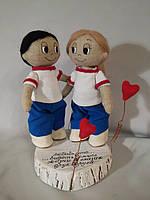 """Мягкие игрушки Куклы """"Влюбленная пара"""""""