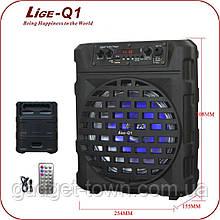 Беспроводная переносная колонка  Lige-Q1 лучшее соотнощение цена/качество!