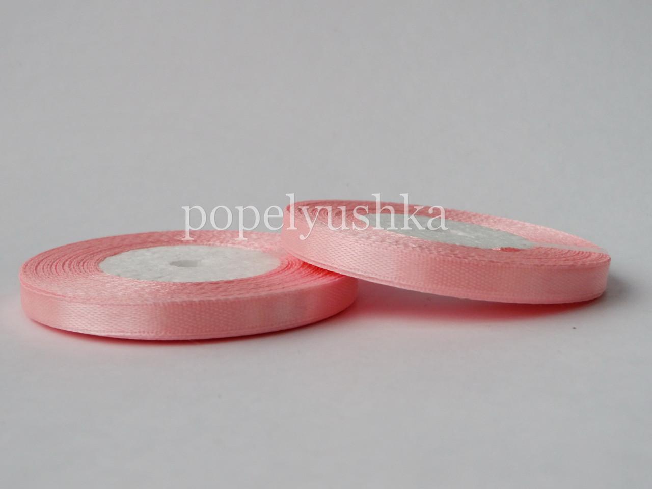 Стрічка атласна 0,5см світло-рожева