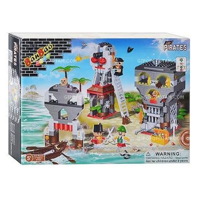 Конструктор BANBAO 8708 Замок пирата, 440 деталей